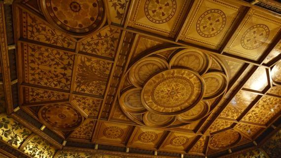 1877 78 ante room ceiling TheGrove Harborne Chamberlain design