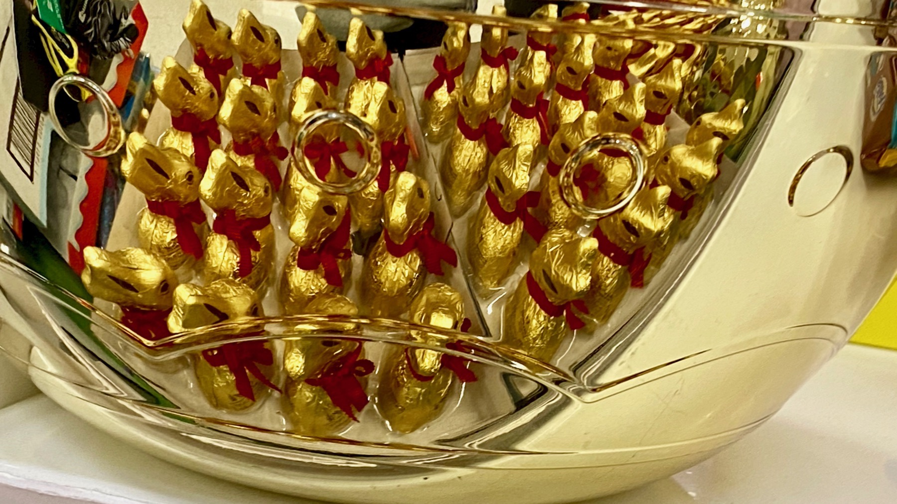 Choc bunnies reflected