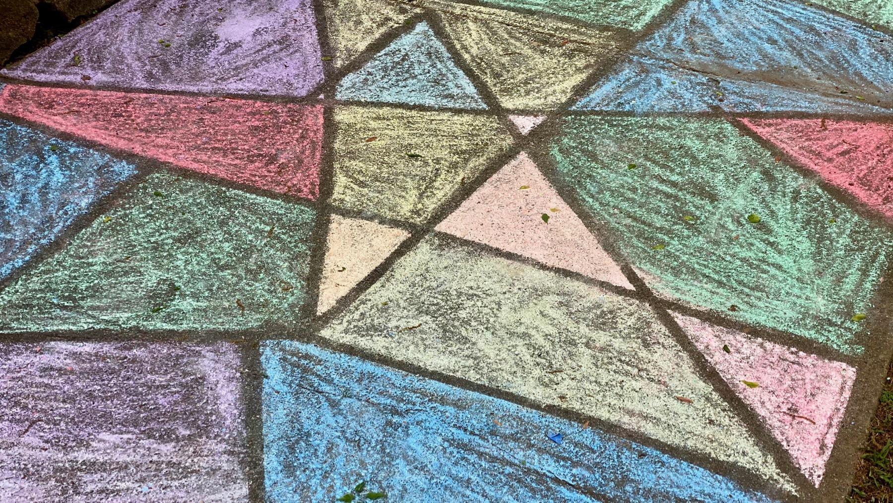 Chalk art glass