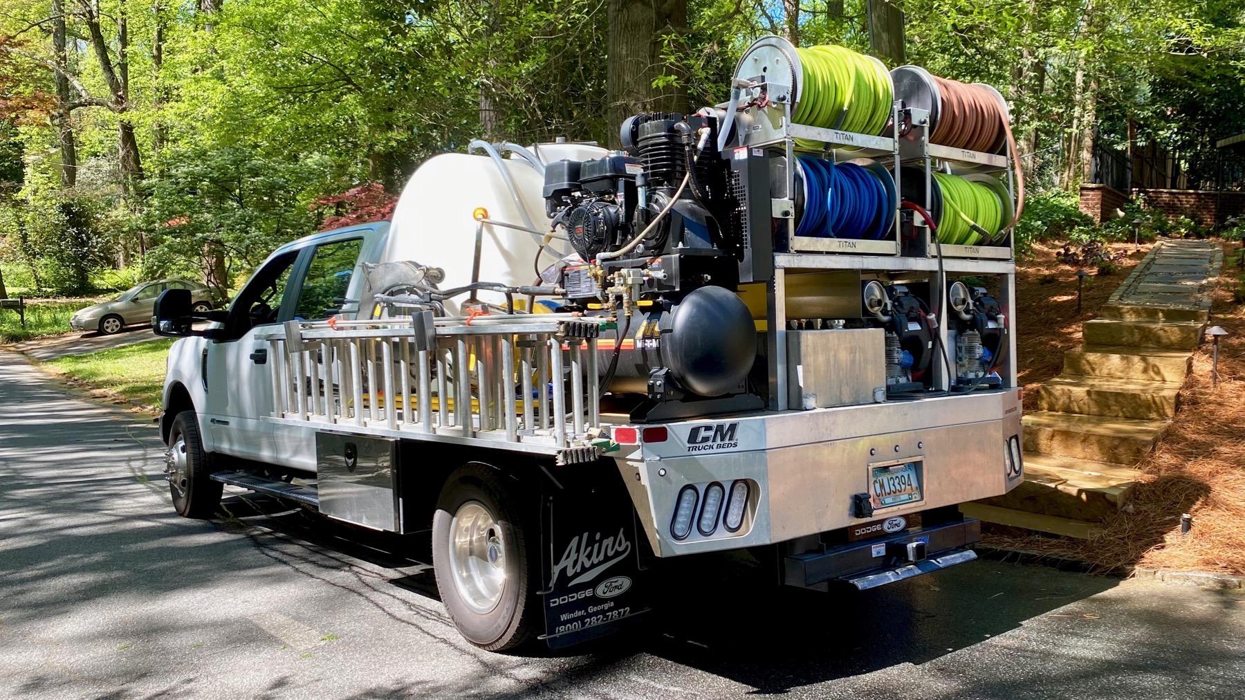 Chlorine truck