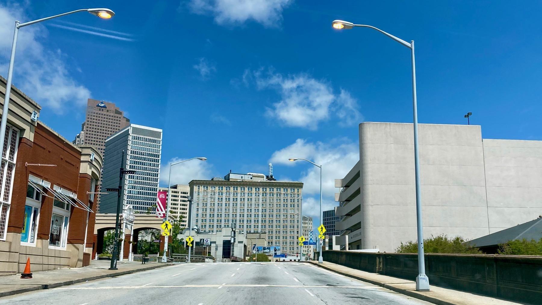 Downtown kinda empty