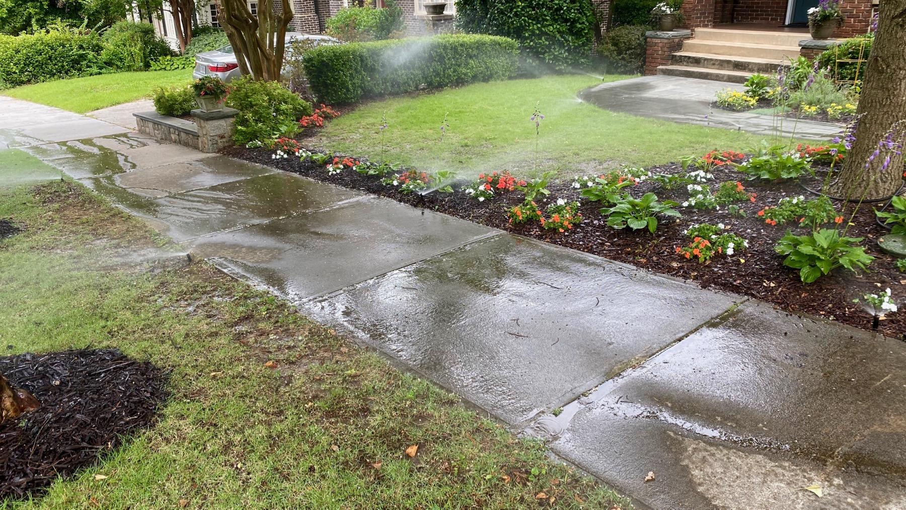 Sidewalk watering