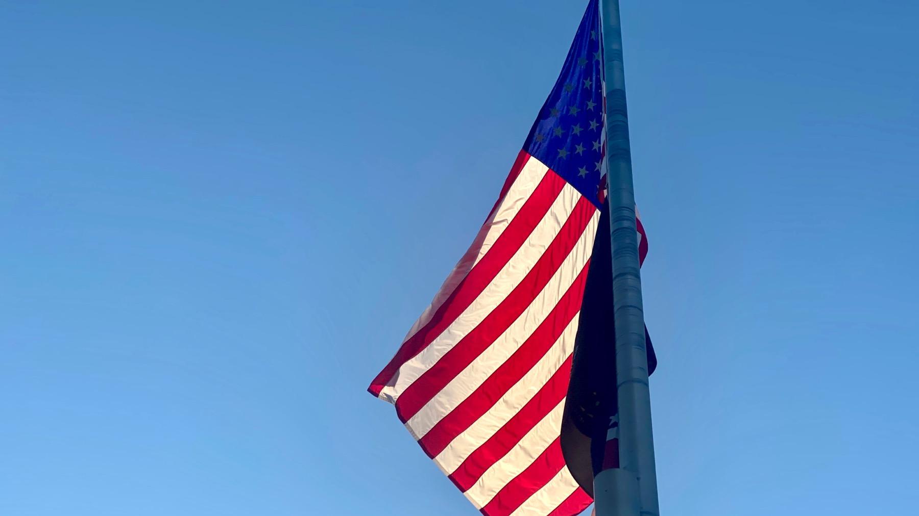 Sunlit flag