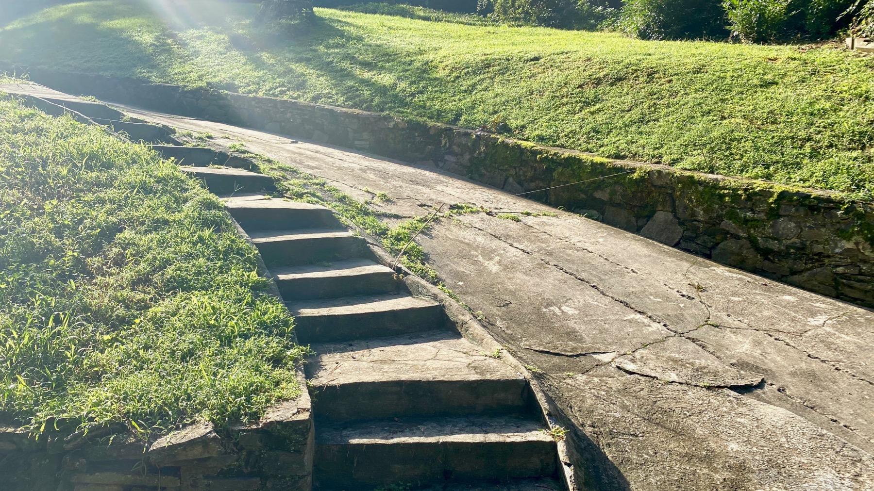 Steps driveway