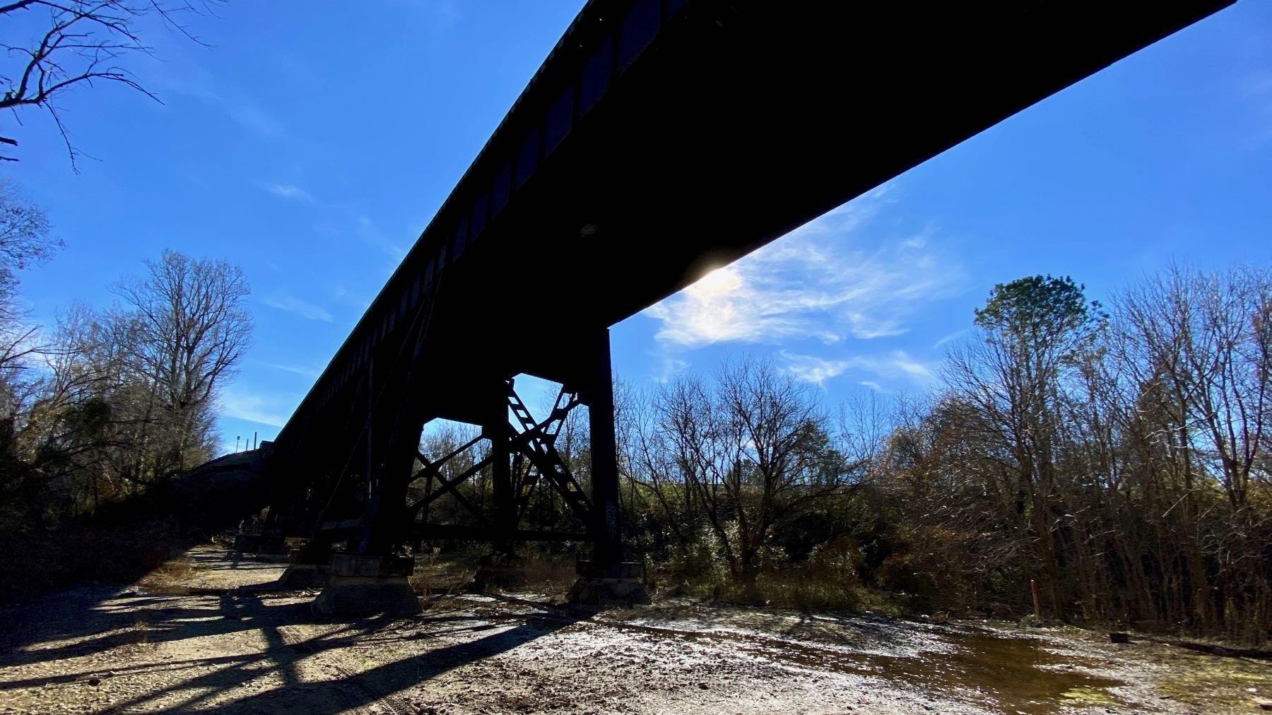 Bridge from below