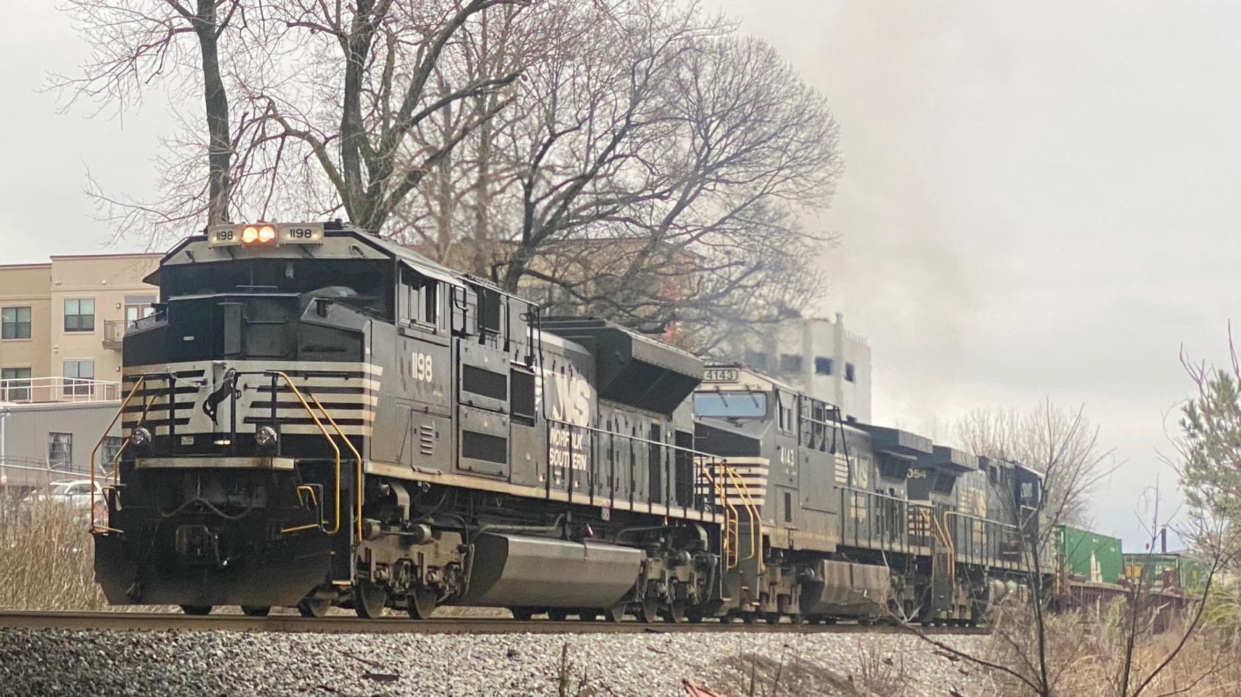 Train rumbling