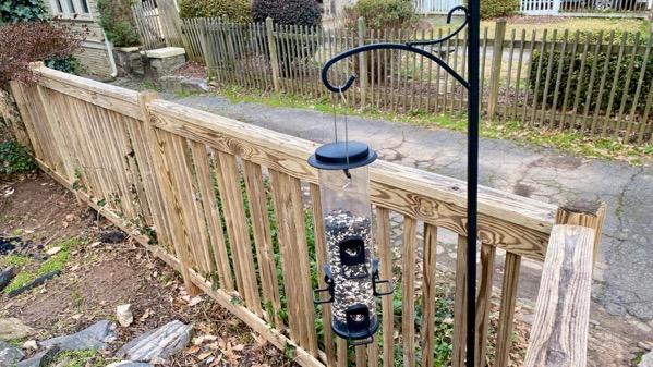 Bird feeder corner