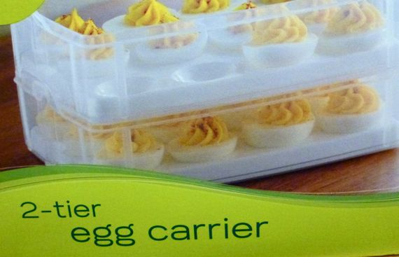 2 tier egg container pkg