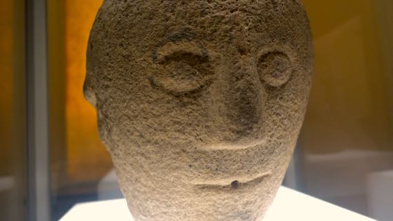 3 faced stone head 1to2 C AD