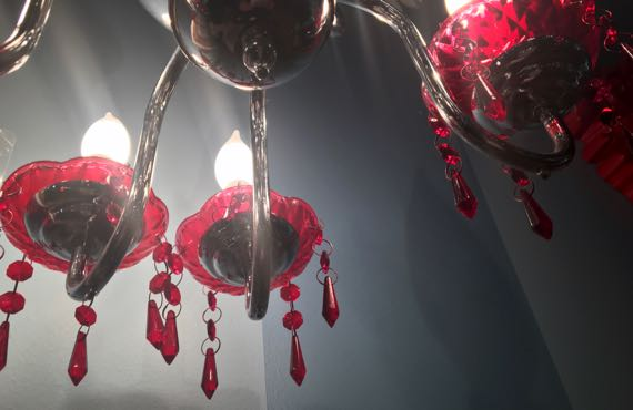 Amelies red chandelier