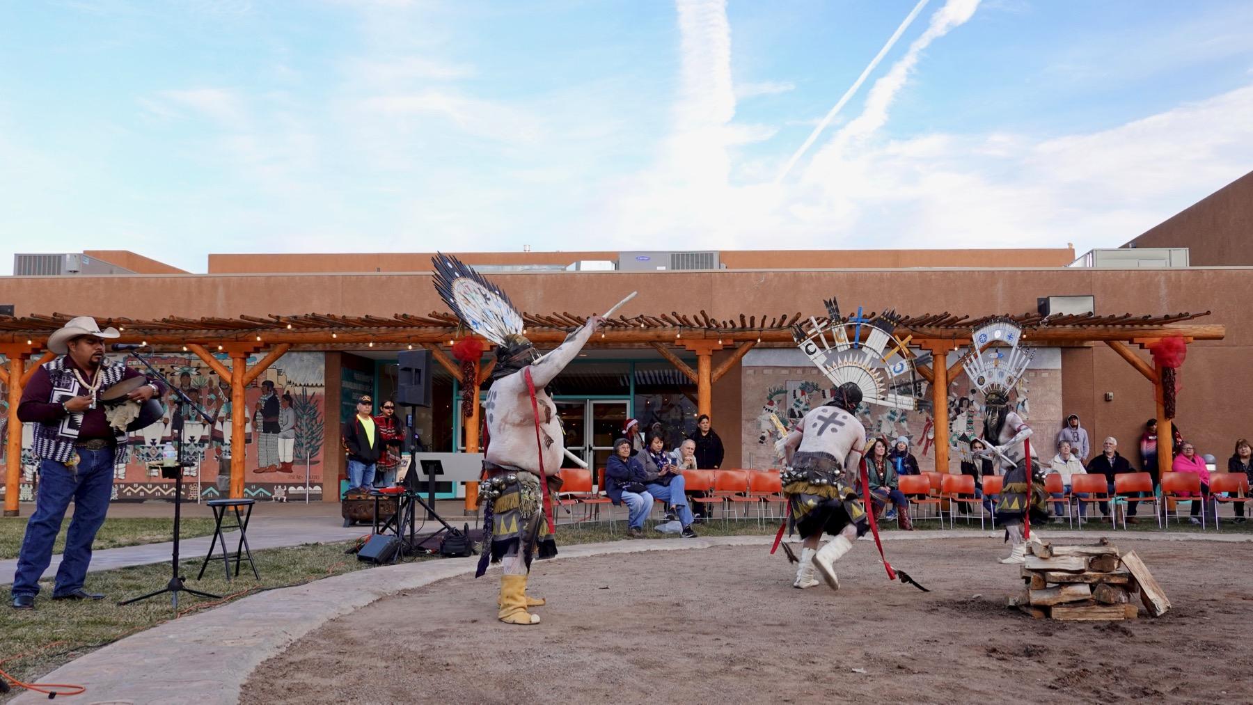 Apache dancers trio caller