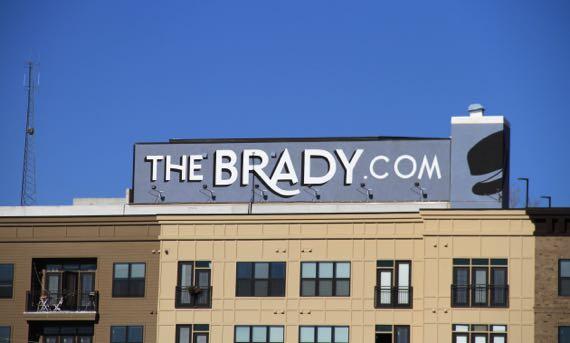Brady sign