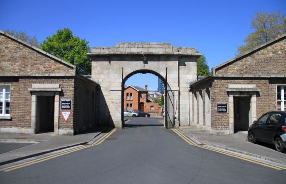Bush Barracks arch