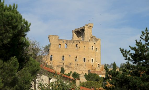 Chateauneuf du Pape ruined pape house