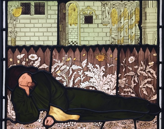 Chaucer sleeping ca1864