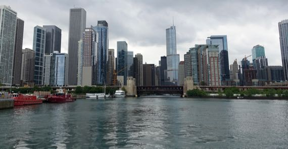 Chicago from mouth of Chicago River