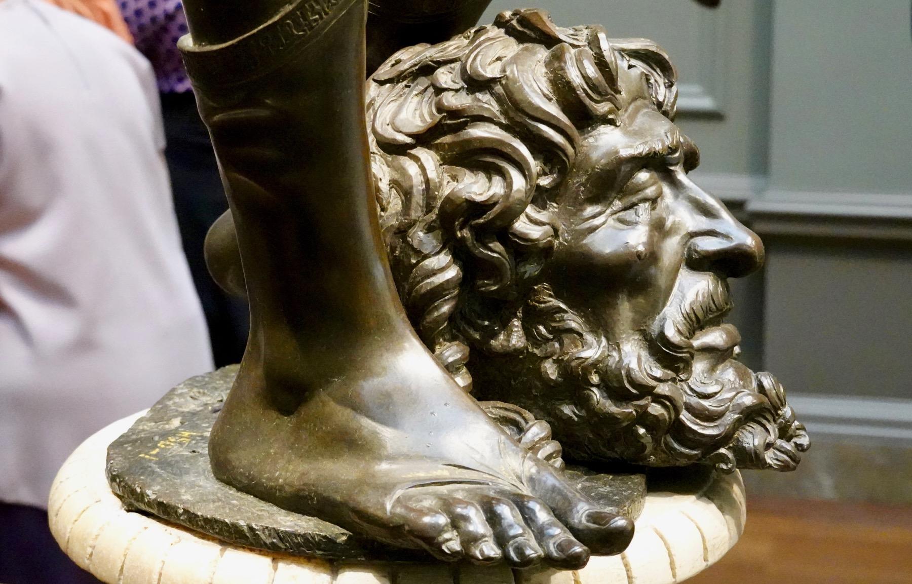 Davids foot Goliaths head