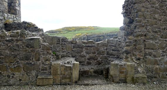 Dunluce chimney base detail