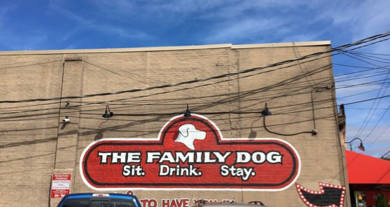 Family dog sign