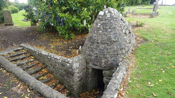 Faughart cemetery Brigids well