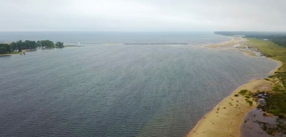 GrandMarais back harbor drone version