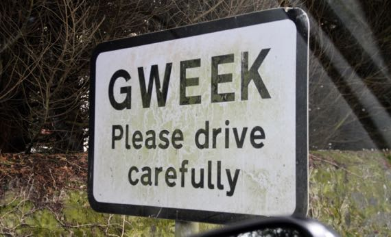 Gweek sign