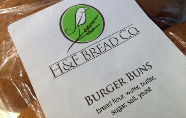 H F burger buns