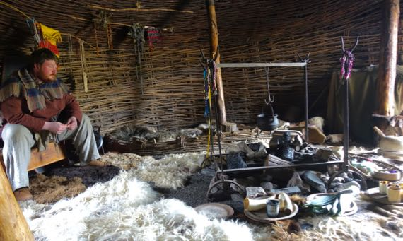 Iron Age house reconstruction
