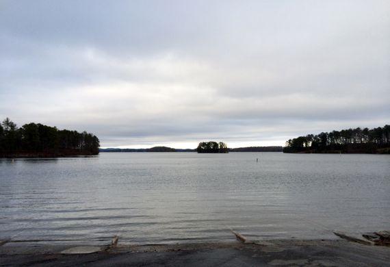 Lake Lanier overcast dusk