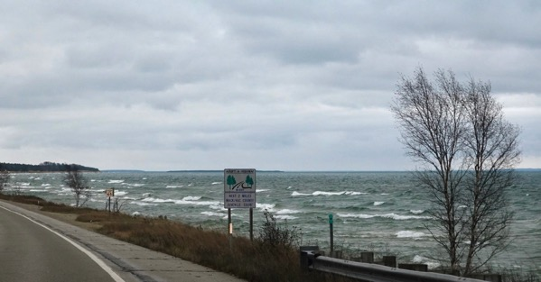 Lake MI waves