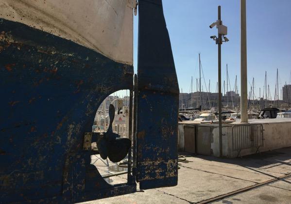 Marseille rudder view
