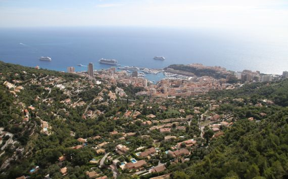 Monaco central from above