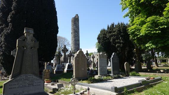 Monasterboice roundtower gravestones