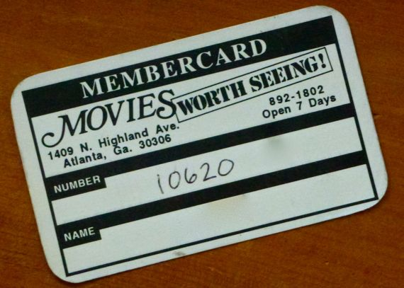 Movies Worth Seeing member card