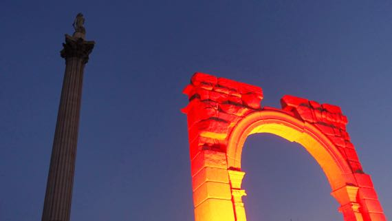 Nelson glowing arch
