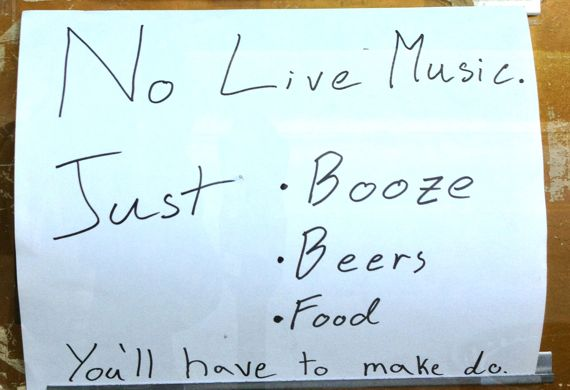 No live music