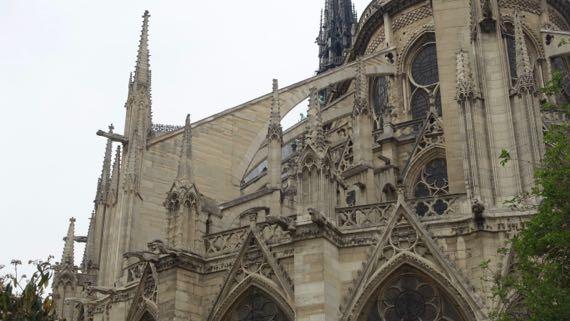 Notre Dame east detail
