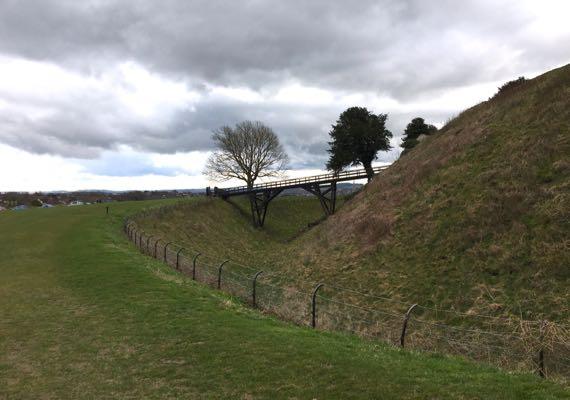 OldSarum inner ditch bridge