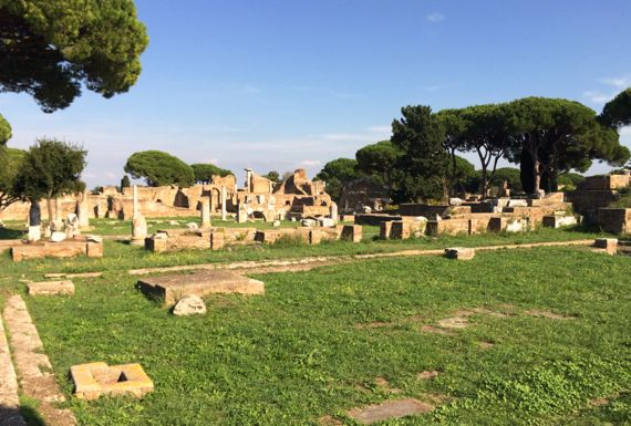 Ostia forum view