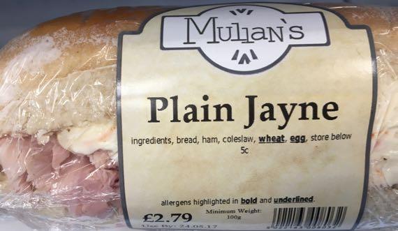 Plain Jayne sandwich