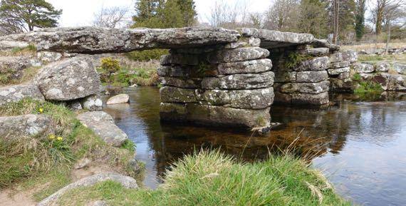 Postbridge clapper bridge
