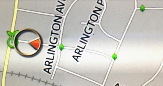 Prius map leaves