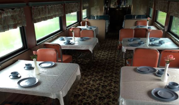 Pullman RR car dining area
