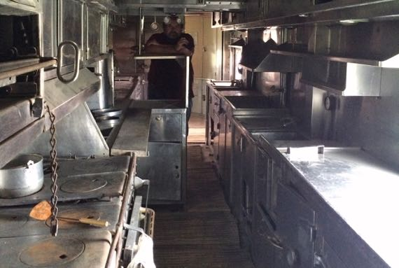 Pullman RR car kitchen