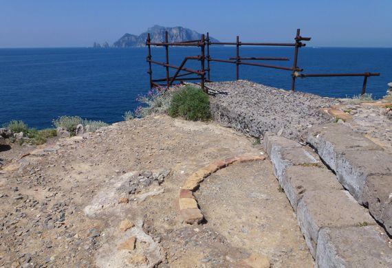 Punto Campanella view of Capri from punto ruin