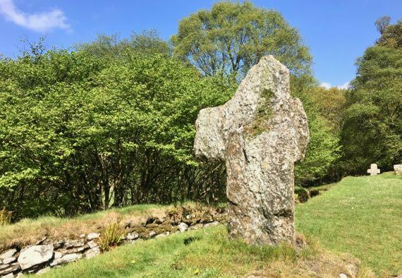 Reefert churchyard cross Glendalough