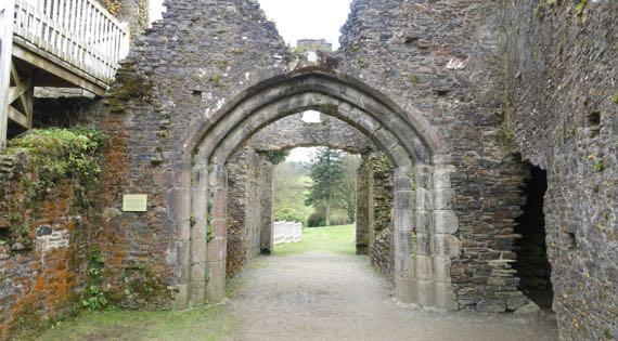 Restormel castle gate