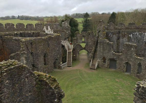 Restormel castle interior