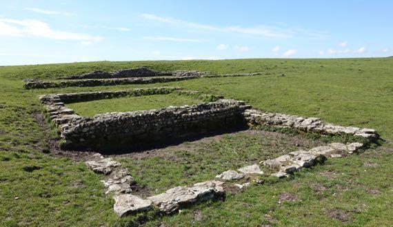 Roman temple Maiden Castle