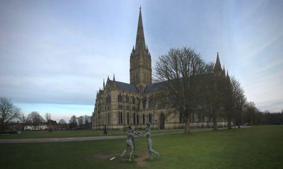 Salisbury cathedral pano